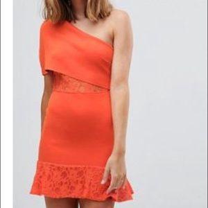 ASOS Petitie Scuba Bobdycon Dress with Flippy Hem